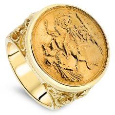 Mens Full Sovereign Ring