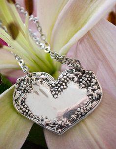 Spoon Necklace Merlot by Silver Spoon Jewelry by silverspoonj