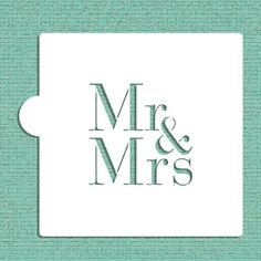 Mr and Mrs Cookie and Craft Stencil CM037 by Designer Stencils *** Read more at the image link.