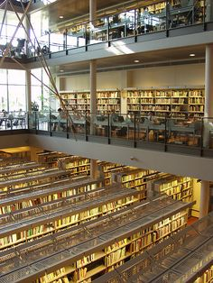 Copenhagen Business School library - Spent many hours face down into the books here :)
