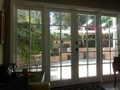 French doors with door-sized sidelights.