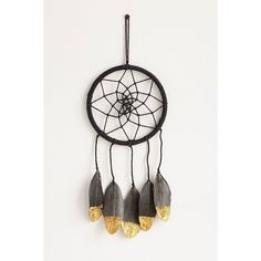 Magical Thinking Magga Gold Dreamcatcher ($24) ❤ liked on Polyvore featuring home, home decor, bohemian home decor, boho home decor, gold home decor and gold home accessories