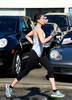 Teri Hatcher running in the Brooks Ghost 6.