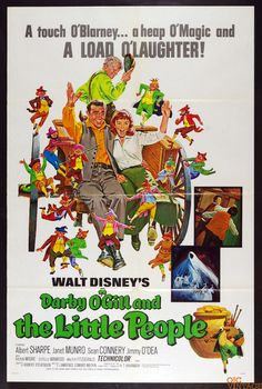 Darby O'Gill and the Little People R1969 Vintage 27 x 41 Poster 1 sheet