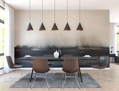 Smokey Black Watercolour Wall Mural, Black, Grey, Neutral Modern Wallpaper for Home and Business Interiors #GIRONA by ModernMatches on Etsy https://www.etsy.com/ca/listing/552141098/smokey-black-watercolour-wall-mural