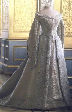 russian court dress belonging to Alexandra Feodorovna (Alix of Hesse), wife of Tsar Nicholas II.