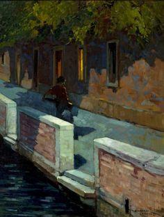"""Renato Natali (Livorno 1883 - 1979), """"Venezia"""" Olio su tavola 68 x 51,6 cm ROTINI ART GALLERY Via Michon, 18/A 57126 Livorno"""