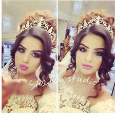 Beatiful girls of Azerbaijan♥ Wedding Hair And Makeup, Wedding Hair Accessories, Bridal Hair, Hair Makeup, Hair Wedding, Braut Make-up, Wedding Looks, Bridal Make Up, Beautiful Bride
