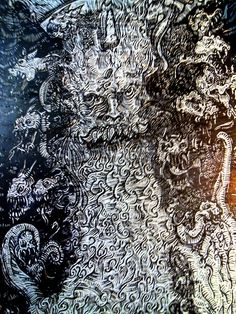 Hellas mythology TYPHOEUS (or Typhon)  Show my new job, summer 2014 in linoleum (engraving plates 50 x 70 cm) with themes of Greek mythology, which is ongoing.  Copyright © reserved  Γιάννης Σταμενίτης Giannis Stamenitis ATELIER STAMENITIS http://atelierstamenitis.wix.com/atelier-stamenitis