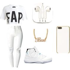 """Pop Dat all White wen im feeling GODLY"" by nneuphtalie on Polyvore"