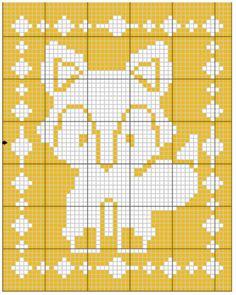 Filet Fox Blanket Crochet Pattern - The Lavender Chair