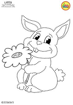 Easter Tracing and Coloring Pages for Kids - Free Preschool Printables and Worksheets, Fine Motor Skills Practice - Easter bunny, eggs, chicks and more on BonTon TV - Coloring books Easter Egg Crafts, Easter Projects, Easter Art, Bunny Crafts, Easter Bunny, Bunny Coloring Pages, Coloring Sheets For Kids, Cool Coloring Pages, Coloring Books