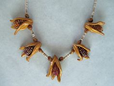 Indian corn necklace, in my etsy store at time of this posting.