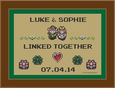Customized - Legend of Zelda: LInk to the Past - Wedding Sampler - Cross Stitch Pattern on Etsy, $5.48 AUD