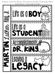 MLK Day nonfiction reader flap-ups for nonfiction reader!