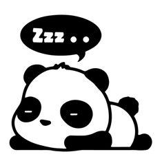 Sleepy Panda Clipart