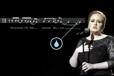 """Why is Adele's """"Someone Like You"""" such a tear-jerker? It contains ornamental notes known as appoggiaturas, which clash with the melody just enough to create a dissonant sound. When the notes return to the anticipated melody, tension resolves. Listeners often feel chills at these moments of resolution. When several appoggiaturas occur next to each other in a melody, it generates a cycle of tension and release, provoking an even stronger reaction, and that's when the tears start to flow."""