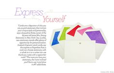 """Thank you cards are so nice- espcially these days- """"The more you love your stationary, the more you'll be inclined to use it and show it off."""""""
