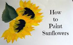 How to Paint a Folkart One Stroke Sunflower | The Art 123