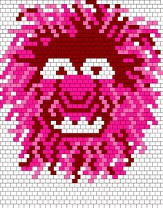Animal from The Muppet Show Bead Pattern
