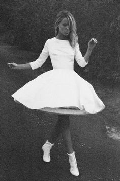 Bridal Gown Inspiration / The New Full Skirt / Delphine Manviet / See available styles this season on The LANE