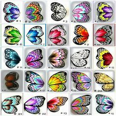 color chart for Spectrum Aqua markers by Crafters Companion - Copic Markers Butterfly wing patterns made from polymer clay. Butterfly wing patterns-not a written pattern just pictures of wings Butterfly wing patterns useful for artwork and designing cloth Clay Projects, Clay Crafts, Paper Crafts, Quilled Creations, Clay Creations, Butterfly Cards, Butterfly Wings, Butterfly Colors, Butterfly Painting