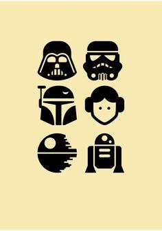 Camisa Star Wars Icon - Star Wars Tshirt - Trending and Latest Star Wars Shirts - Star Wars Meme, Star Wars Fan Art, Simbolos Star Wars, Star Wars Stencil, Finn Star Wars, Star Wars Cartoon, Star Wars Icons, Star Wars Gifts, Star Wars Party