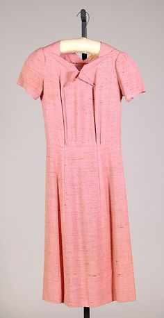 Dress | House of Schiaparelli | French | spring 1937 | linen | Brooklyn Museum Costume Collection at The Metropolitan Museum of Art | Accession Number: 2009.300.3934