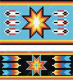 Illustration of Traditional (native) American Indian pattern, vector vector art, clipart and stock vectors. Indian Beadwork, Native Beadwork, Native American Beadwork, Native American Patterns, Indian Patterns, Native American Indians, Tapestry Crochet Patterns, Bead Loom Patterns, Beading Patterns