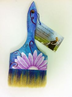Altered Art brush project - get your kids to decorate a paintbrush. Would make a nice gift.