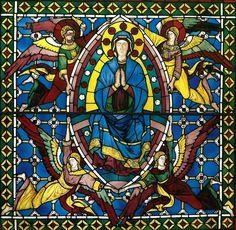 Duccio di Boninsegna: Assunzione della Vergine. Elemento centrale della vetrata originaria del Duomo di Siena. Siena, Museo dell'Opera del Duomo