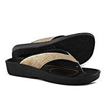 79607045e2e01 AEROTHOTIC Original Orthotic Comfort Thong Sandal and Flip Flops with Arch  Support for Comfortable Walk
