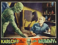 Karloff as The Mummy. He acts with his eyes.