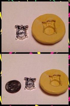 Drum charm  silicone mold - pinned by pin4etsy.com