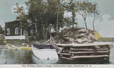 The William Spies Cottage, Butterfield Lake, Redwood, NY Vintage Images, Old Photos, Cottage, York, History, Vintage Pictures, Old Pictures, Historia, Vintage Photos