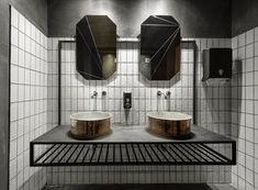 *블랙 드롭 커피샵 [ of Architecture ] Black Drop Coffee Shop_Kavala – Greece Steam Showers Bathroom, Bathroom Spa, Bathroom Toilets, Office Bathroom, Bathroom Black, Bathroom Remodeling, Wabi Sabi, Bathroom Furniture, Bathroom Interior