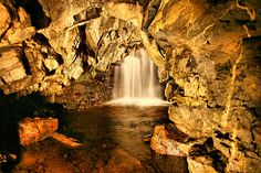 Whitescar Caves, Ingleborough, North Yorkshire. The longest showcave in England.