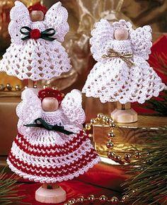 Leisure Arts - Clothespin and Thread Crochet Angels Pattern 2 ePattern,(http://www.leisurearts.com/products/clothespin-and-thread-crochet-angels-pattern-2-digital-download.html)