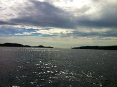 """The view from Edvard Munchs home in Kragerø. """"Solen"""" / """"The sun"""""""