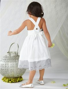 Girls' Party dress WHITE LIGHT ALL OVER PRINTED+PINK DARK SOLID+WHITE MEDIUM SOLID+GREY LIGHT SOLID