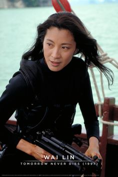 Michelle Yeoh as Wai Lin in TOMORROW NEVER DIES (1997).