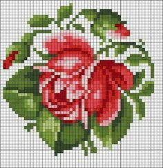 Embroidery flowers rose free pattern Ideas for 2019 Cross Stitch Rose, Cross Stitch Flowers, Cross Stitch Charts, Cross Stitch Designs, Cross Stitch Patterns, Cross Stitching, Cross Stitch Embroidery, Hand Embroidery, Embroidery Patterns Free