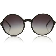 Chanel Black Round Gradient Sunglasses found on Polyvore