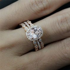 oval engagement rings with wedding band - Google Search
