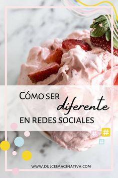Cómo ser diferente en redes sociales Tips Instagram, La Red, Pudding, Breakfast, Cake, Desserts, Food, Facebook, Brand Identity Design