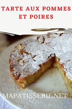 C'est une tarte aux pommes et poires différente ! Tout le monde l'a appréciée en famille ! Elle est adaptée pour être servie surtout après le déjeuner ou après le dîner mais personne ne nous interdit de la servir au petit déjeuner ou à l'heure du thé! En pratique une tarte où les fruits frais, prennent la place de la confiture, créant une farce douce et parfumée. Foie Gras, Cheesecakes, French Toast, Food And Drink, Vegan, Breakfast, Pear Tart, Apple Cakes, Cooking Food