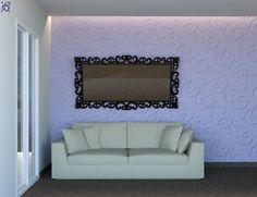 Ξύλινη Επένδυση Τοίχου Σαλονιού με διακοσμητικά ανάγλυφα πάνελ [Σειρά Engraved] Frame, Design, Home Decor, Picture Frame, Decoration Home, Room Decor, Frames, Home Interior Design