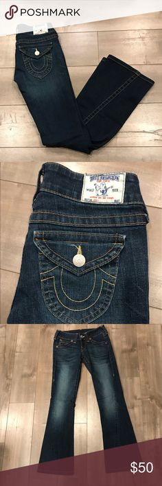 73e676249a9 Shop Women's True Religion size 25 Jeans at a discounted price at Poshmark.  Description: True Religion Joey World Tour Jeans Low Rise Boot Cut