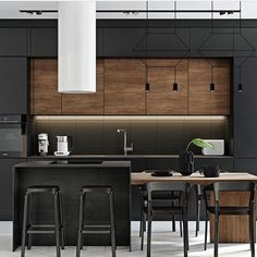 Modern Home Interior Design to Your Kitchen Design Industrial Kitchen Design, Kitchen Room Design, Dining Room Design, Home Decor Kitchen, Kitchen Interior, Kitchen Living, Living Room, Modern Home Interior Design, Contemporary Kitchen Design
