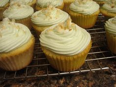 Make lemonade and more!: Key Lime Coconut Cupcakes with White Chocolate Buttercream Frosting
